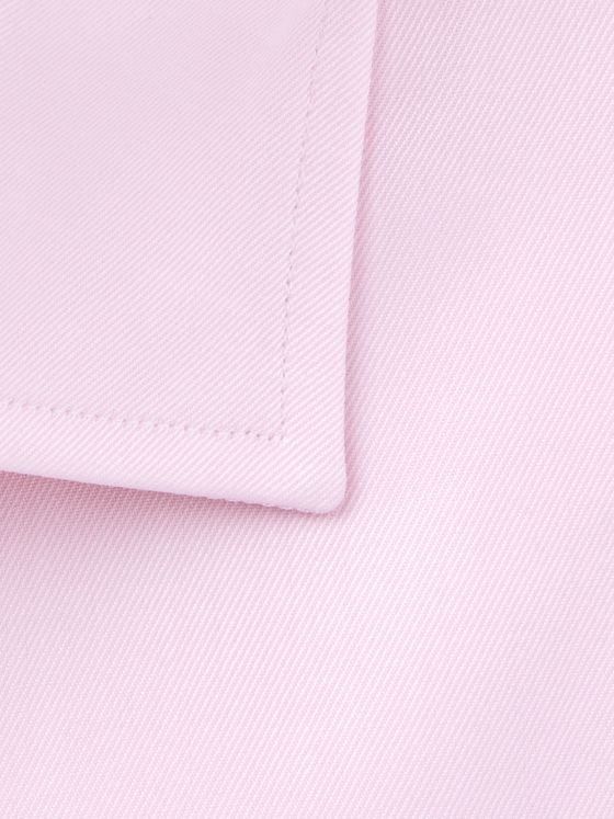 CANALI Pink Slim-Fit Cutaway-Collar Cotton-Twill Shirt