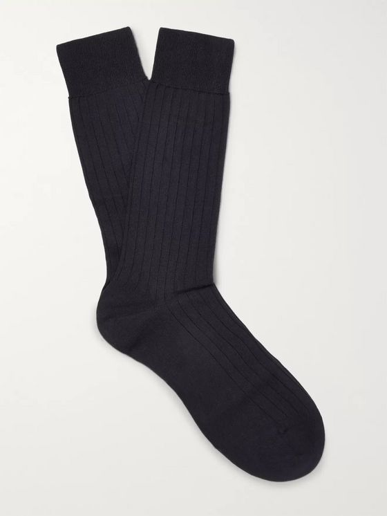 Pantherella Pembrey Sea Island Cotton-Blend Socks