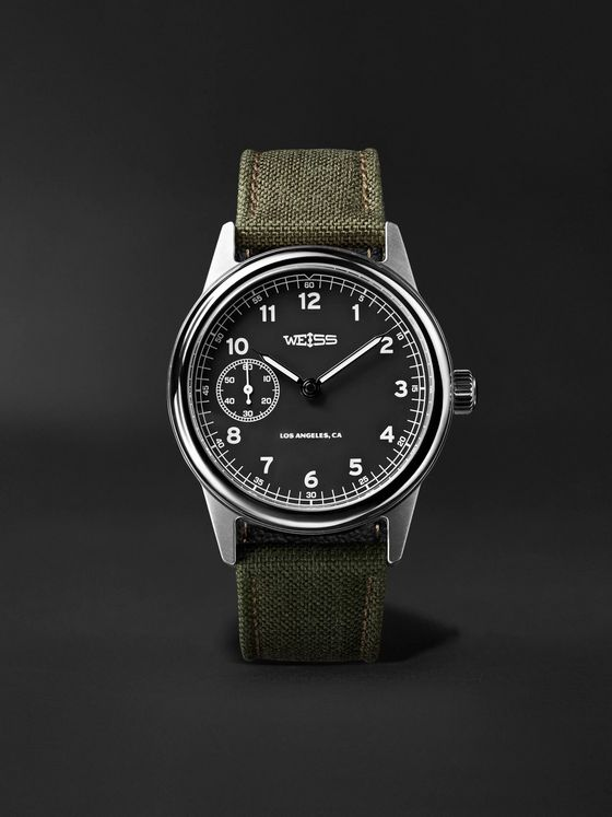 Weiss Issue Automatic 38mm Stainless Steel and CORDURA Field Watch