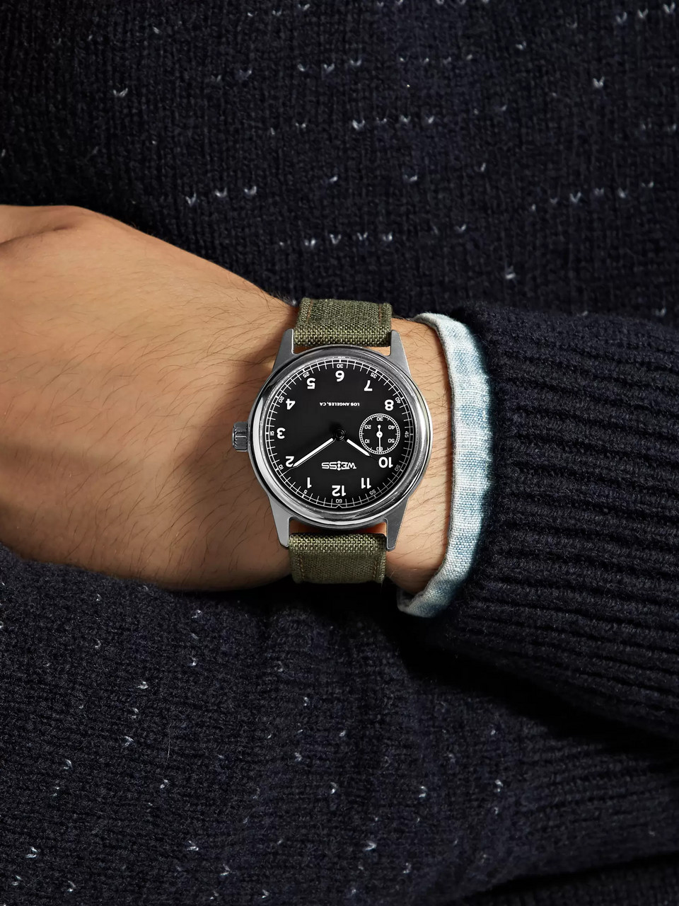 Weiss Automatic Issue 38mm Stainless Steel and CORDURA Field Watch