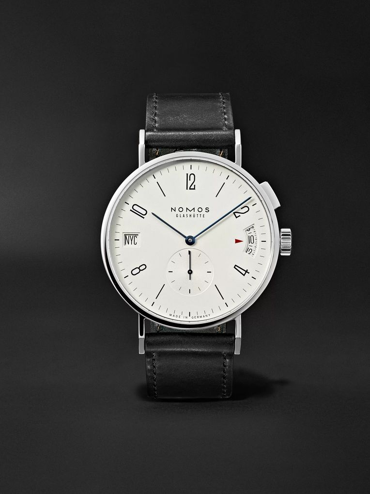 NOMOS Glashütte Tangomat GMT Automatic 40mm Stainless Steel and Cordovan Leather Watch, Ref. No. 635