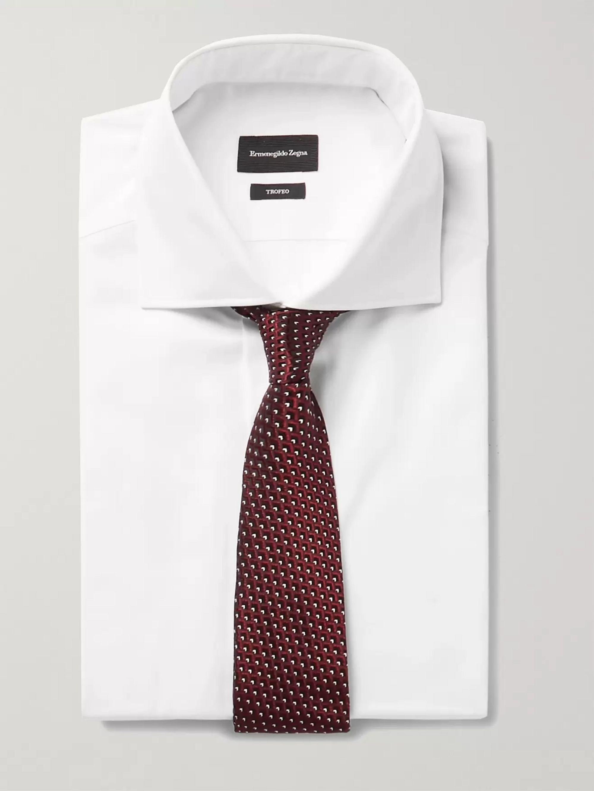 8bcfb4e4 White Trofeo Cutaway-Collar Cotton-Poplin Shirt