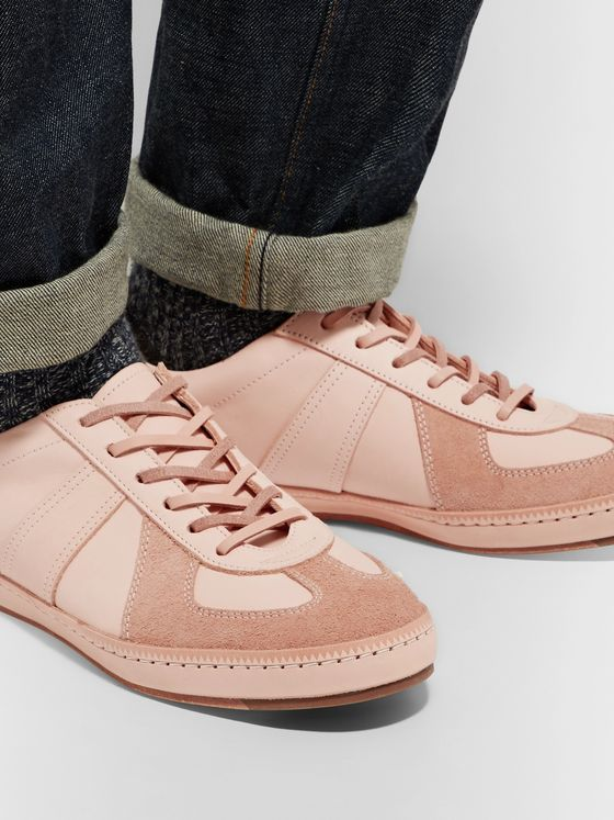 Hender Scheme MIP-05 Suede-Trimmed Leather Sneakers