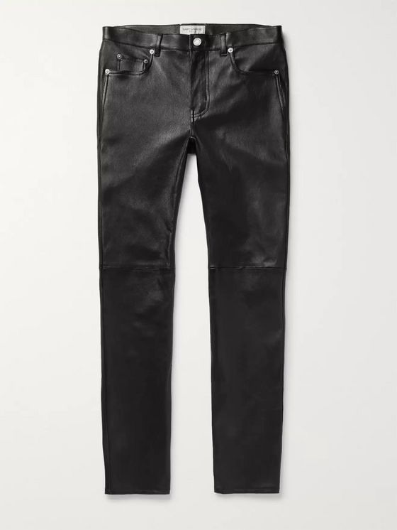 SAINT LAURENT Skinny-Fit Leather Trousers