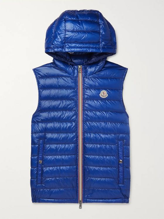 Moncler Gien Quilted Shell Hooded Down Gilet