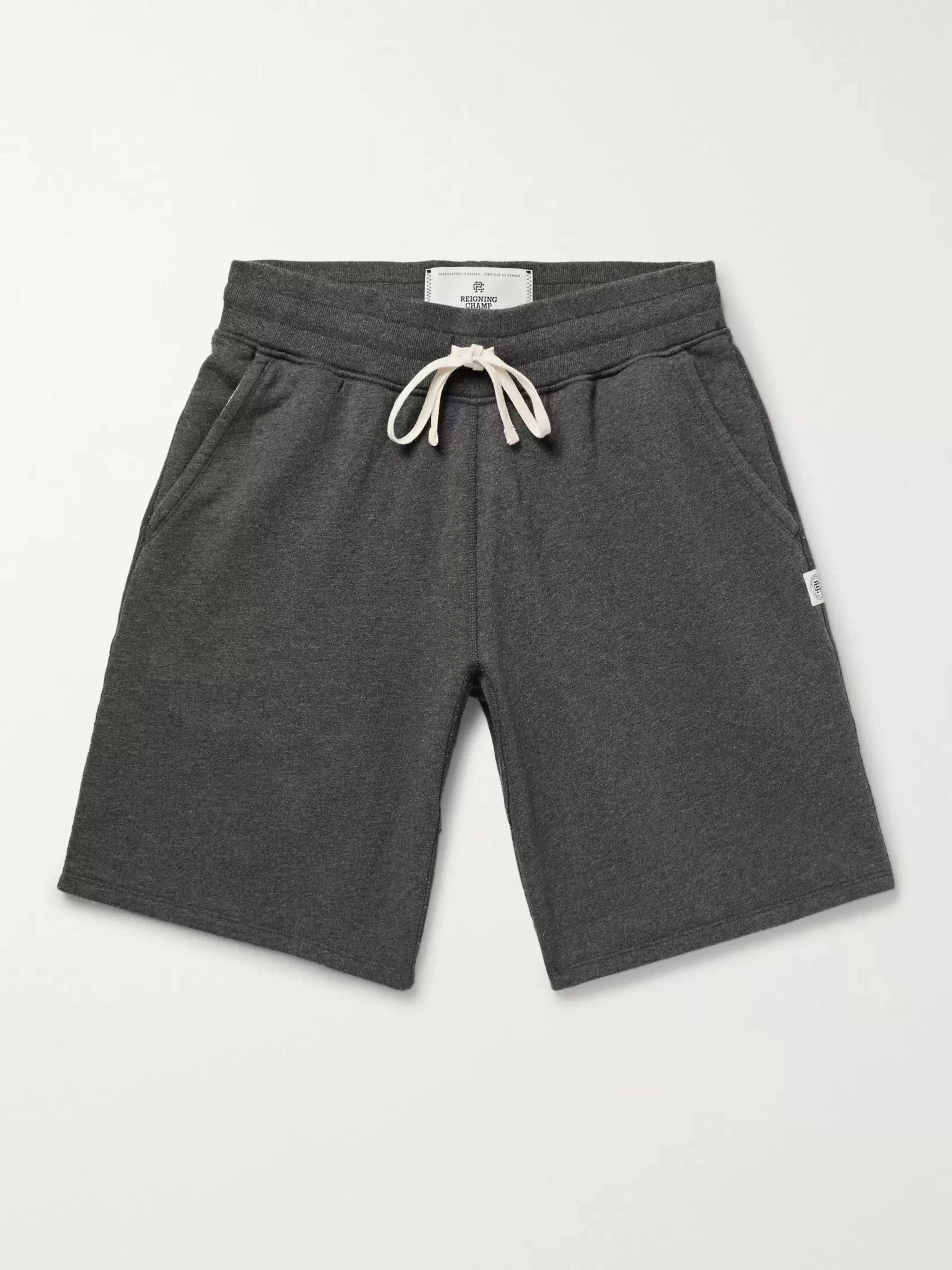 Reigning Champ Loopback Cotton-Jersey Drawstring Shorts