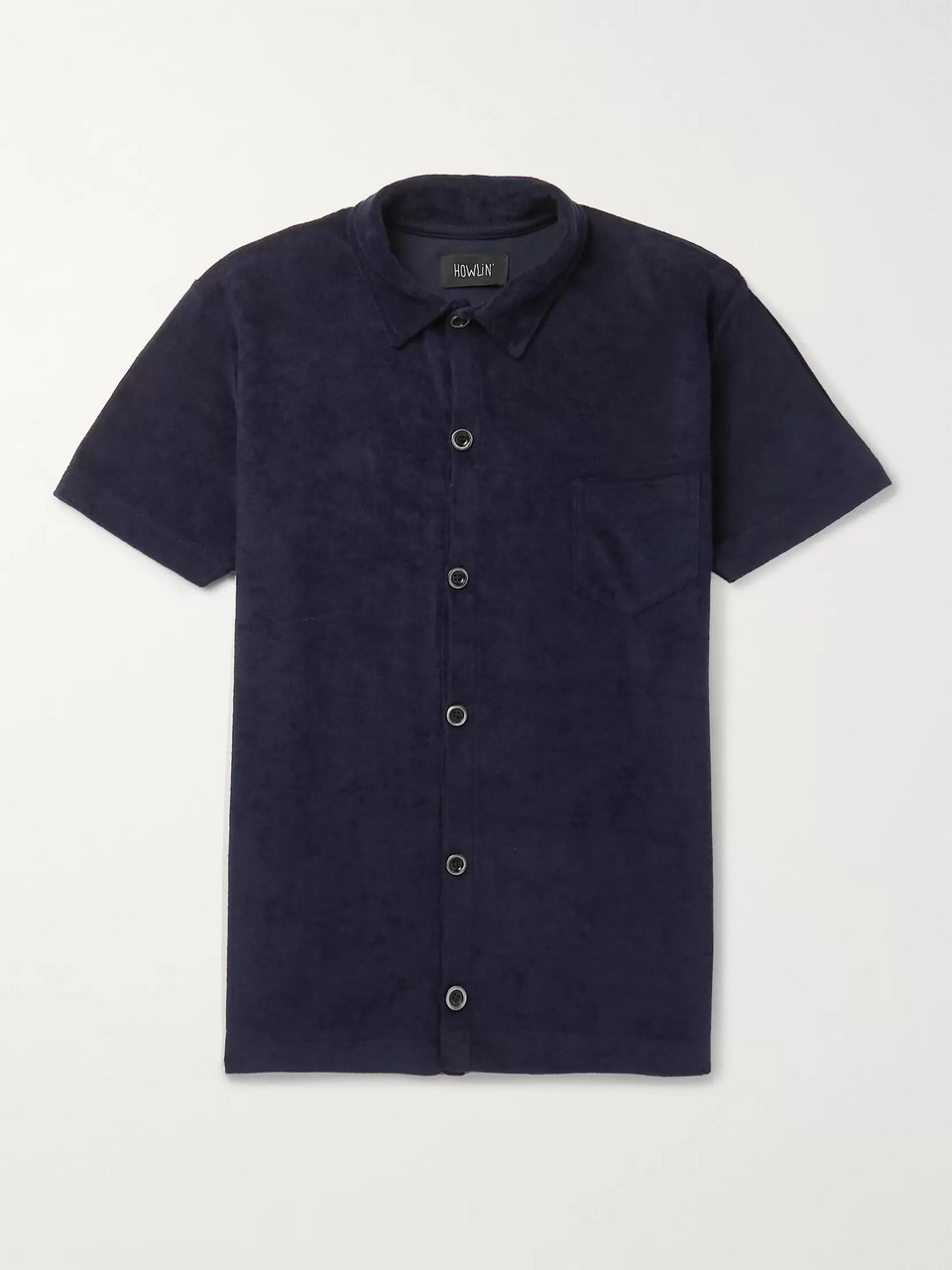 Howlin' Slim-Fit Cotton-Blend Terry Shirt