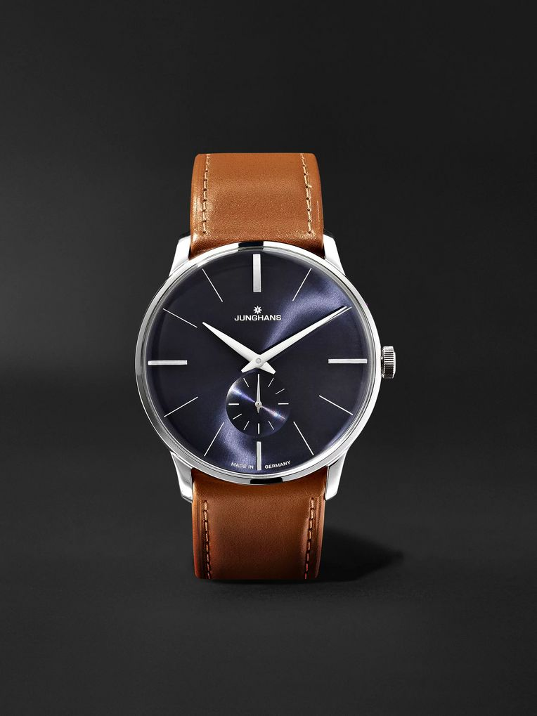 Junghans Meister Handaufzug 38mm Stainless Steel and Leather Watch, Ref. No. 027/3504.00