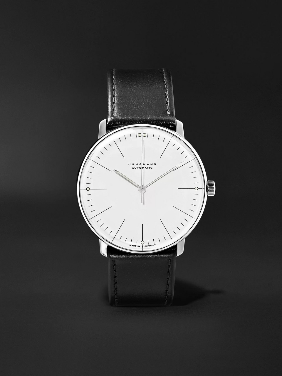 Junghans Max Bill Automatic 38mm Stainless Steel and Leather Watch