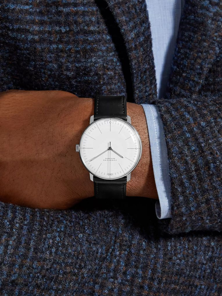 Junghans Max Bill Automatic 38mm Stainless Steel and Leather Watch, Ref. No. 027/3501.00
