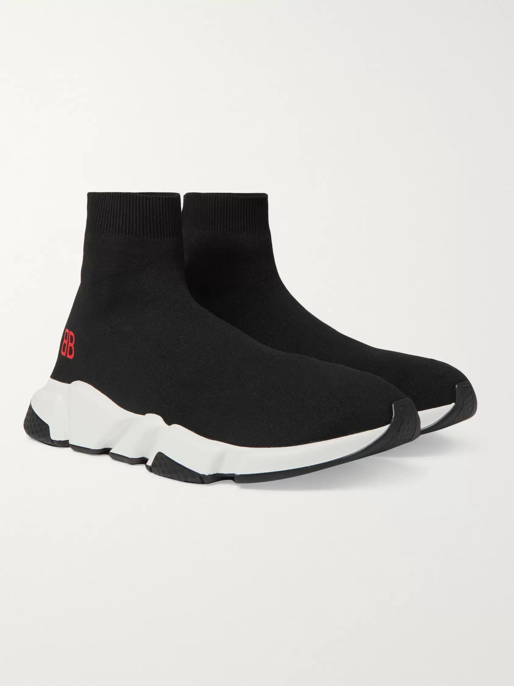 balenciaga speed sock black