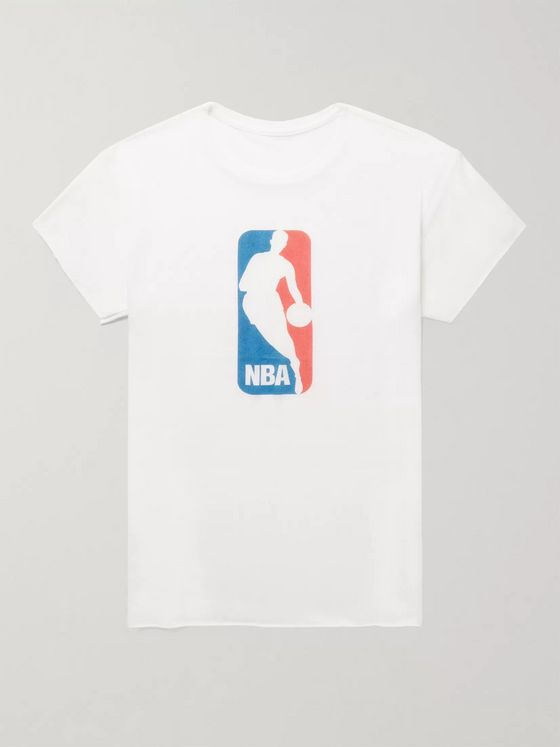 The Elder Statesman + NBA Printed Cashmere and Silk-Blend T-Shirt