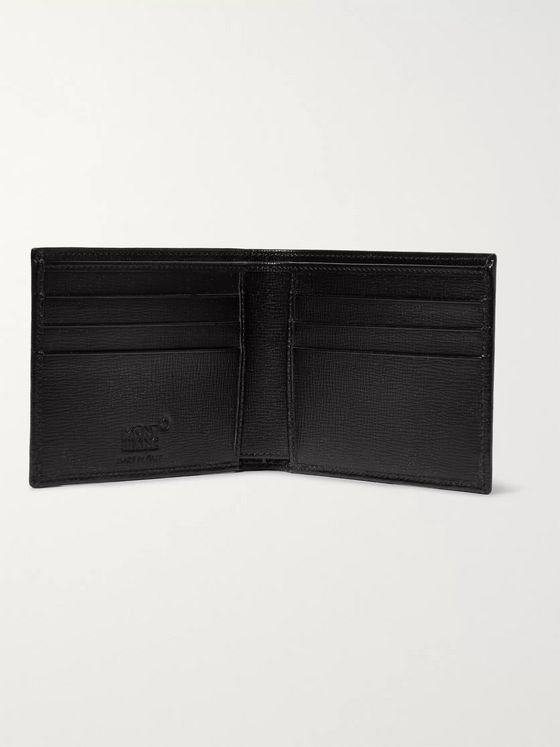 MONTBLANC Cross-Grain Leather Billfold Wallet and Cardholder Gift Set