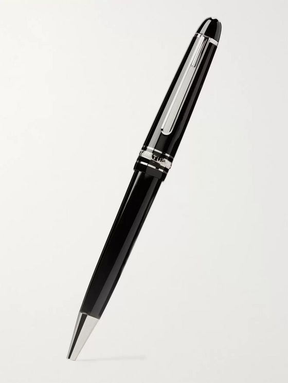 MONTBLANC Meisterstück Resin and Platinum-Plated Ballpoint Pen