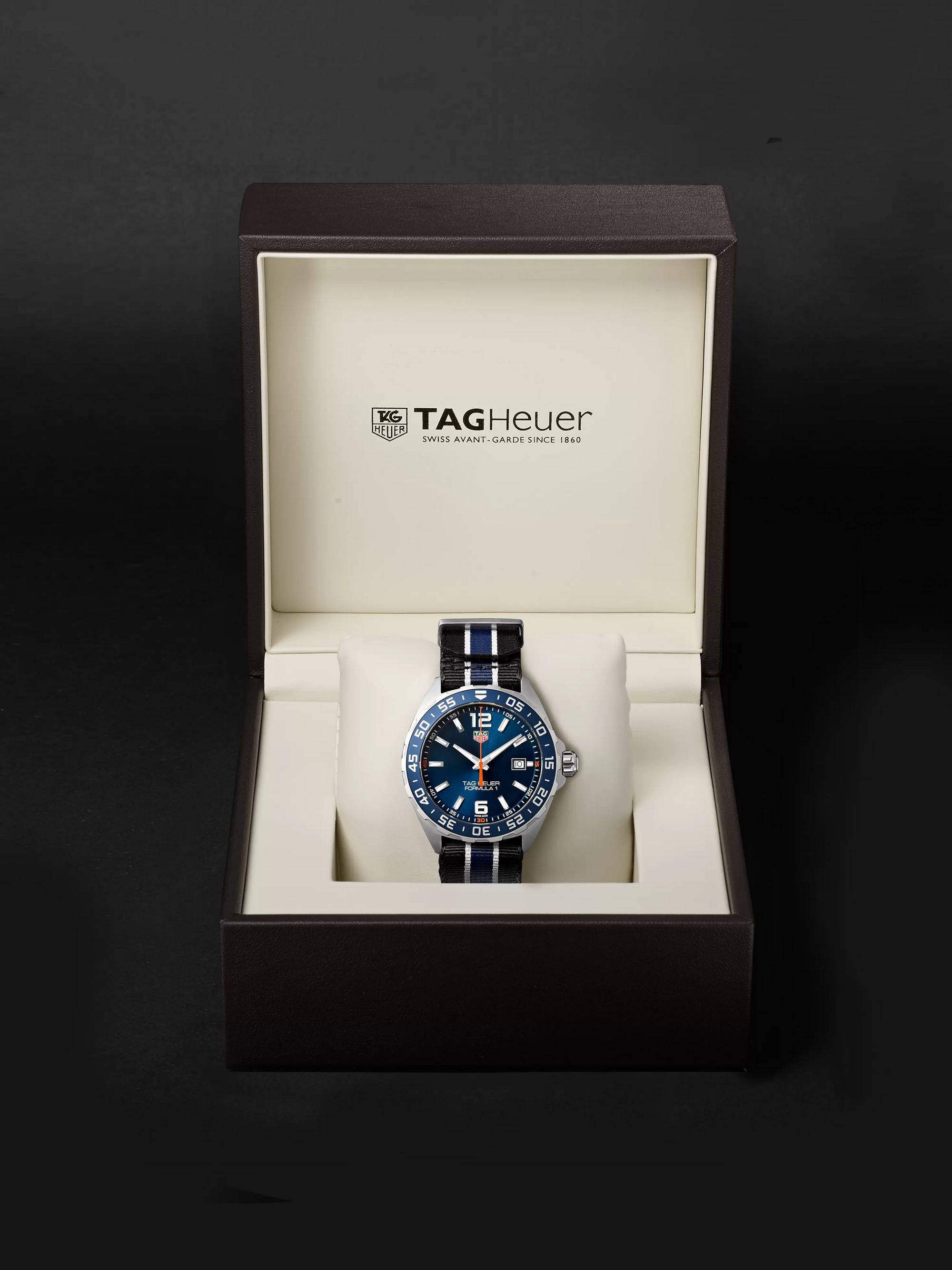 TAG Heuer Formula 1 43mm Stainless Steel and NATO Webbing Watch, Ref. No. WAZ1010.FC8197