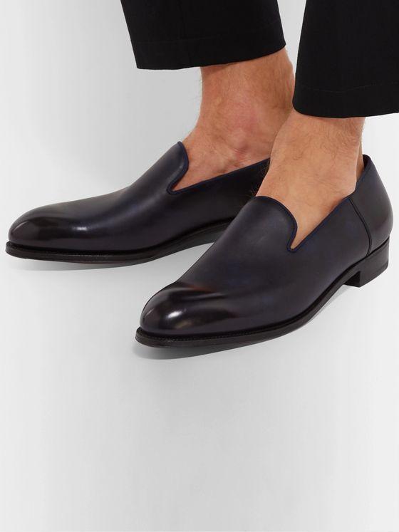 gamme exceptionnelle de styles chaussures de course magasiner pour le luxe Tamponato Leather Loafers