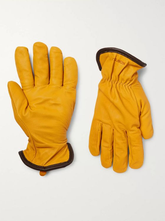 FILSON Merino Wool-Lined Full-Grain Leather Gloves