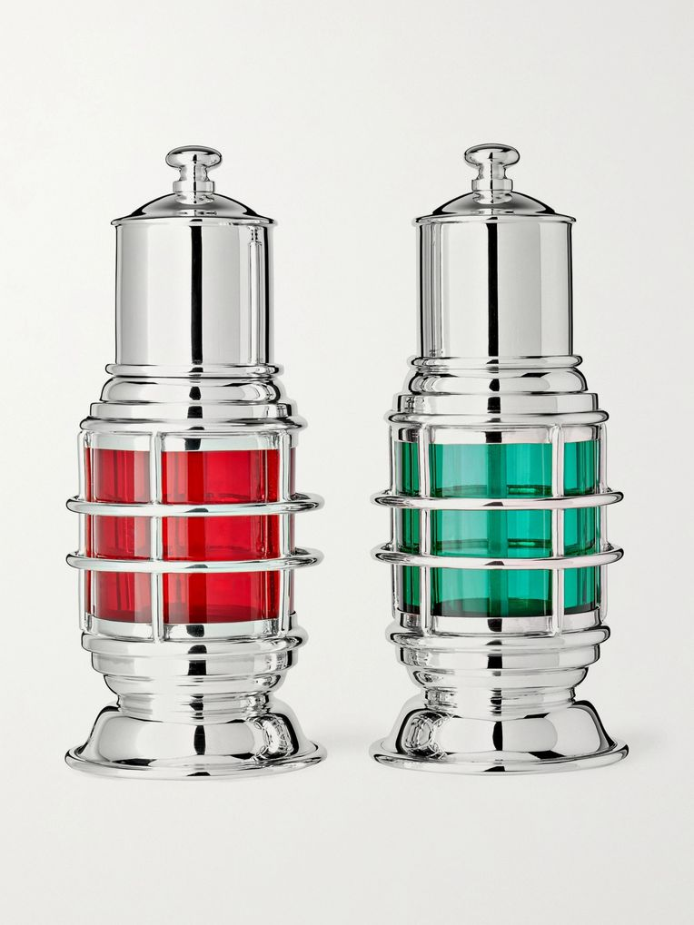Asprey Sterling Silver Salt and Pepper Shakers