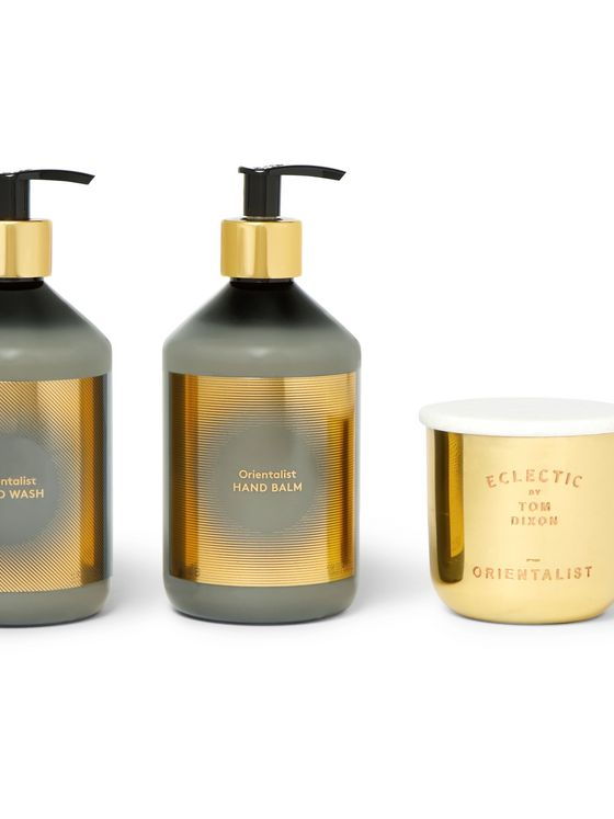 Tom Dixon Orientalist Scented Candle, Hand Wash and Balm Gift Set
