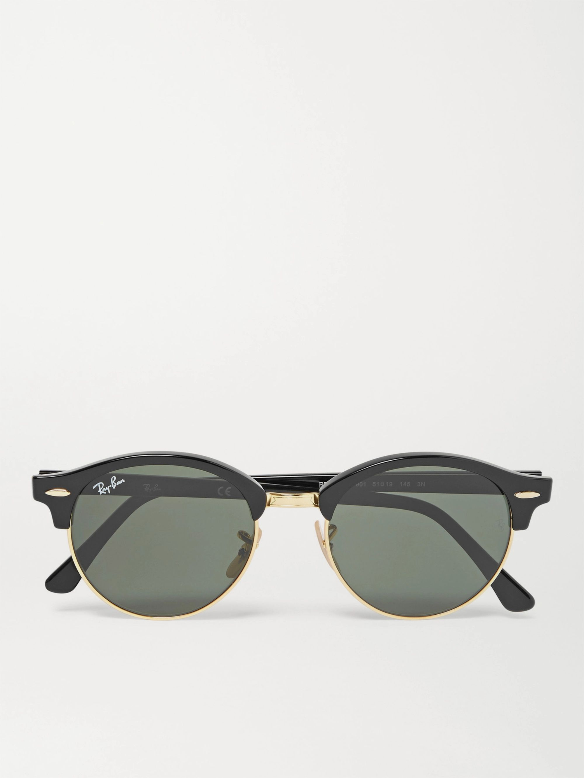 ray ban all black round sunglasses