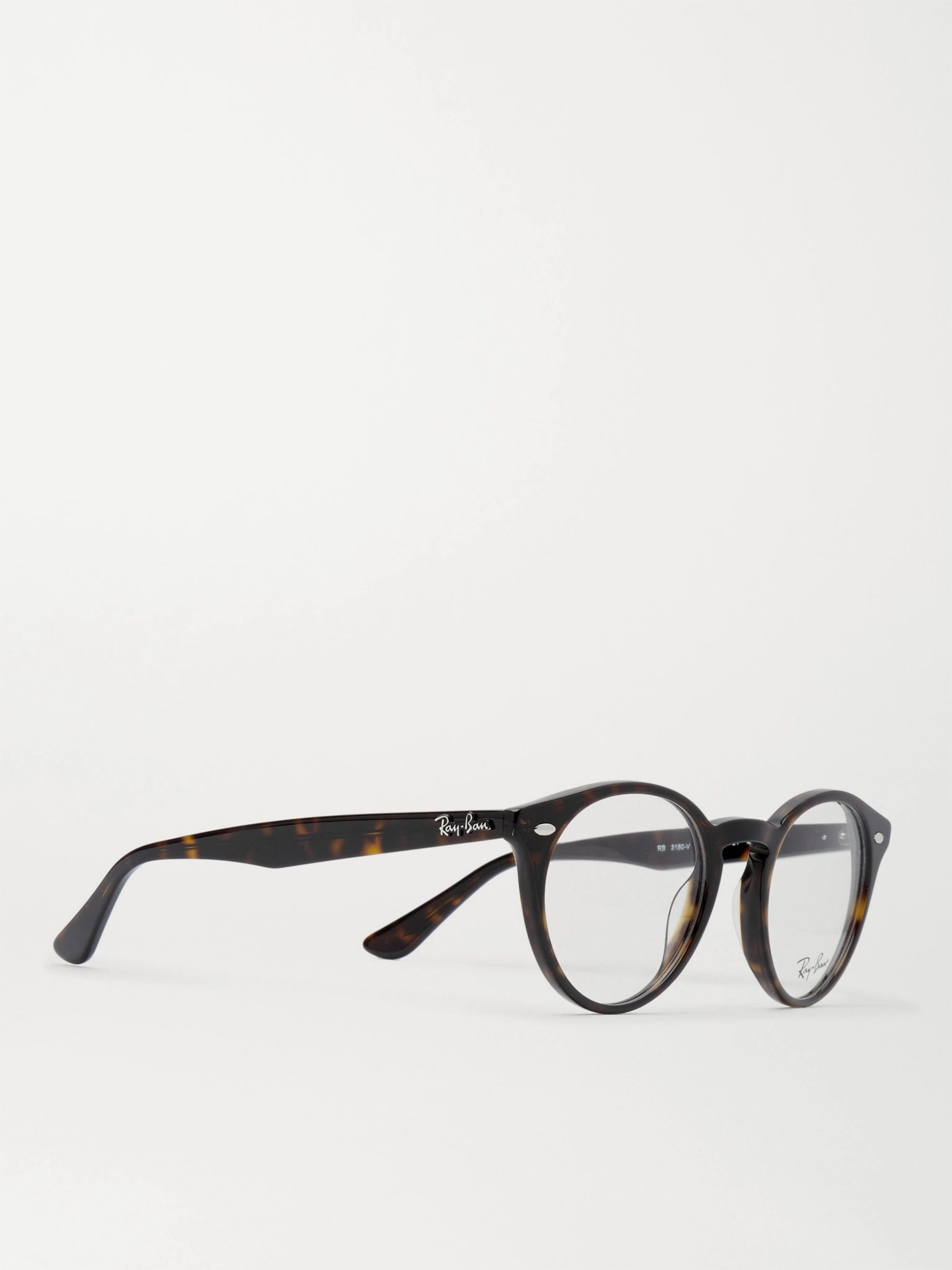 Ray-Ban Round-Frame Tortoiseshell Acetate Optical Glasses