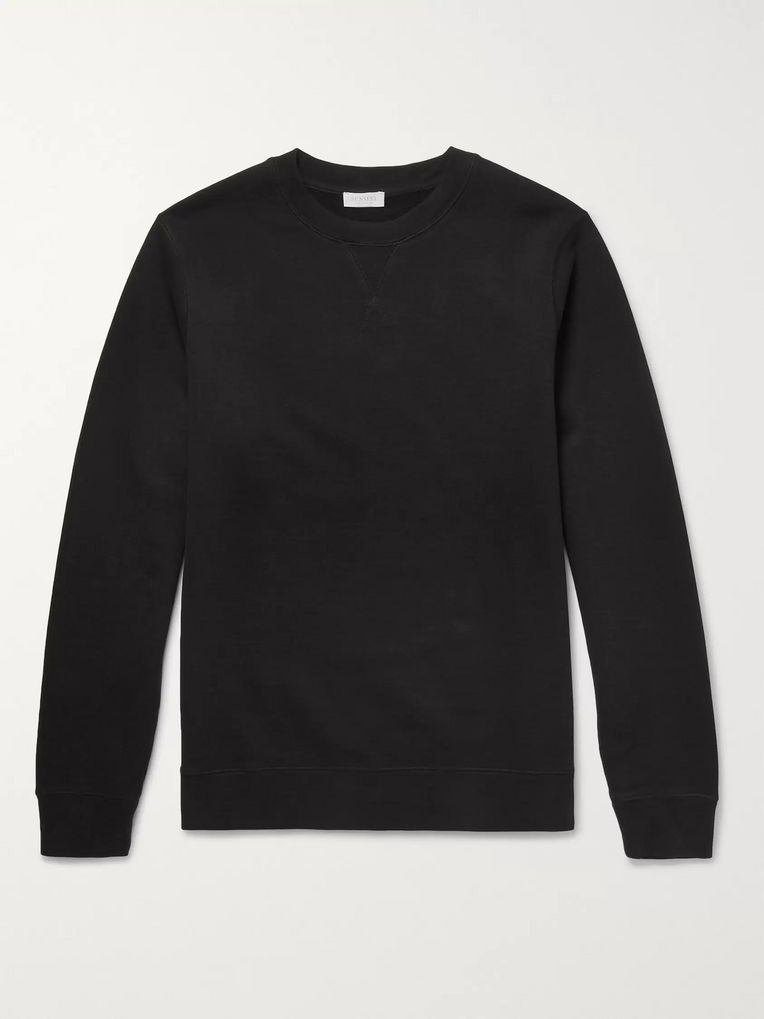 Sunspel Brushed Loopback Cotton-Jersey Sweatshirt