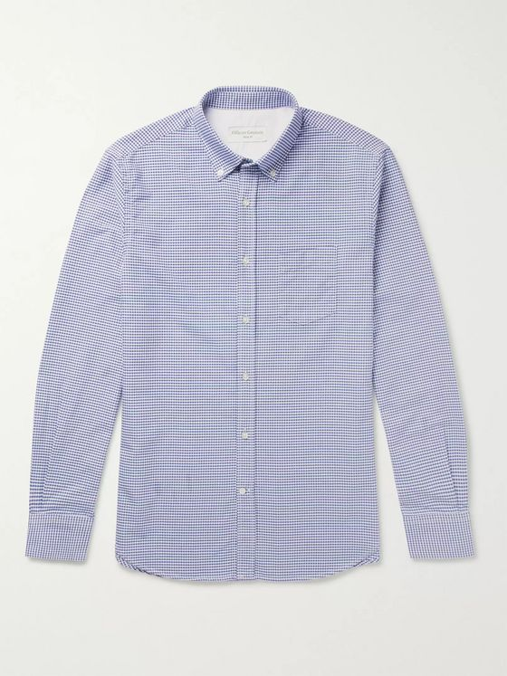OFFICINE GÉNÉRALE Antime Button-Down Gingham Cotton Oxford Shirt