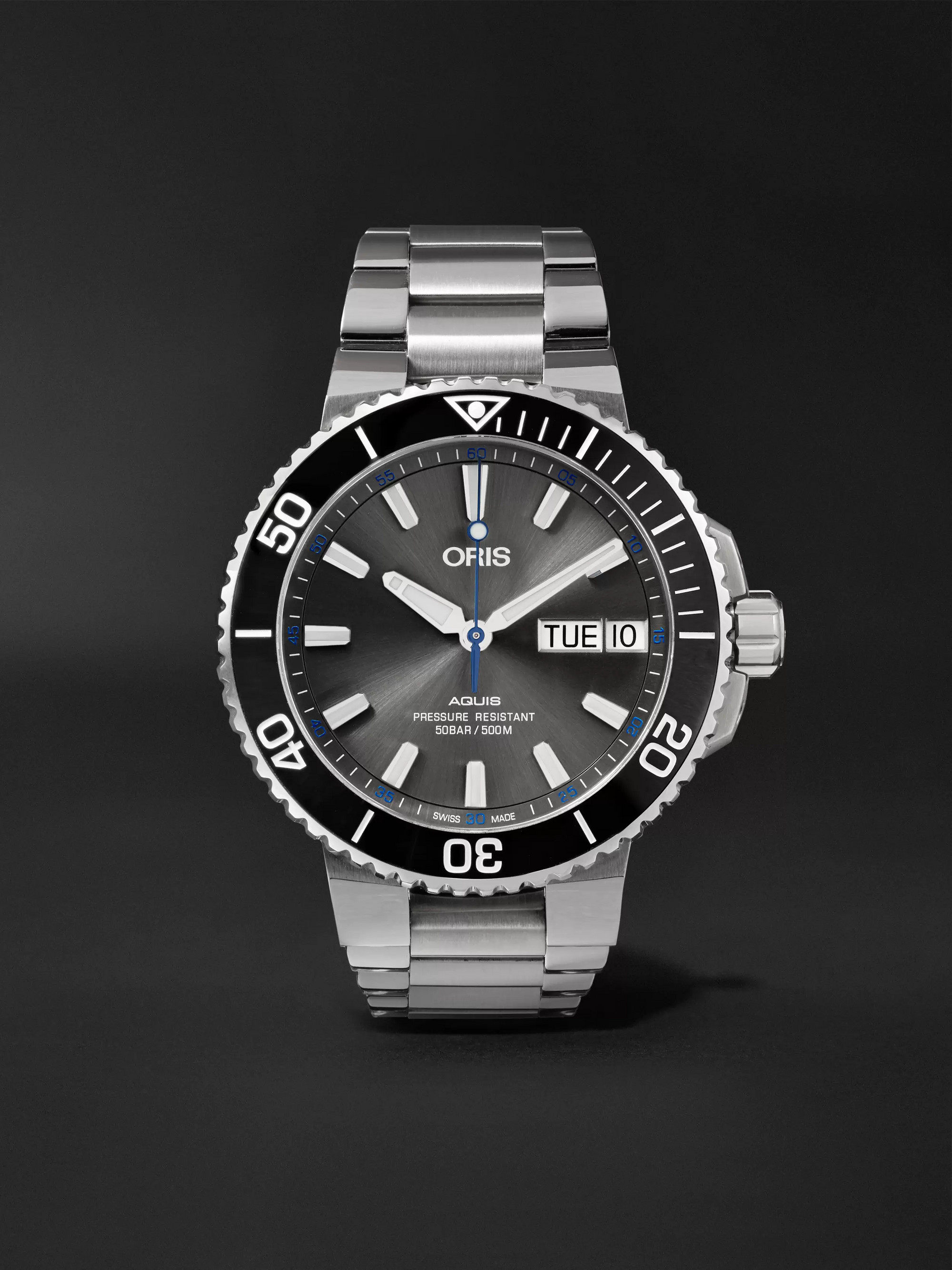 Oris Aquis Hammerhead Limited Edition Automatic 45.5mm Stainless Steel Watch
