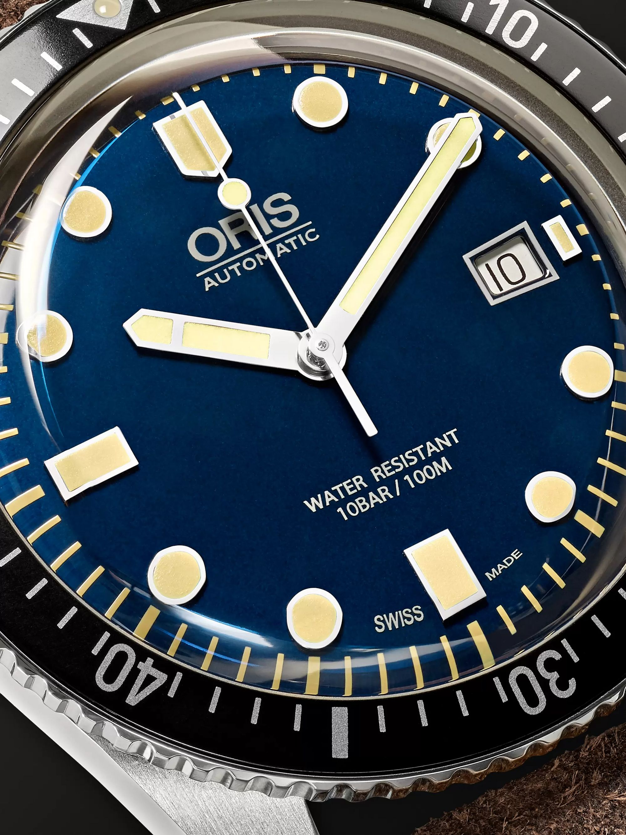 Oris Divers Sixty-Five 42mm Stainless Steel and Canvas Watch, Ref. No. 01 733 7720 4055-07 5 21 28FC