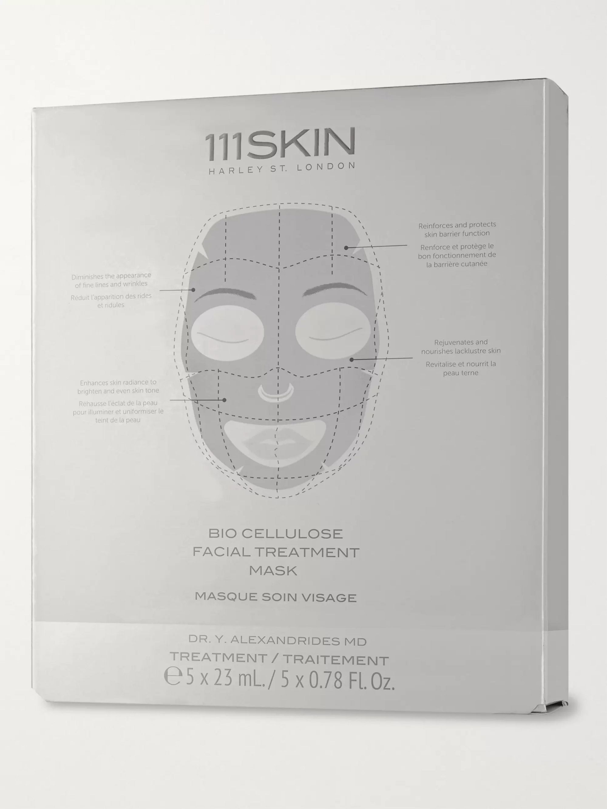 111SKIN Bio Cellulose Facial Treatment Mask, 5 x 23ml