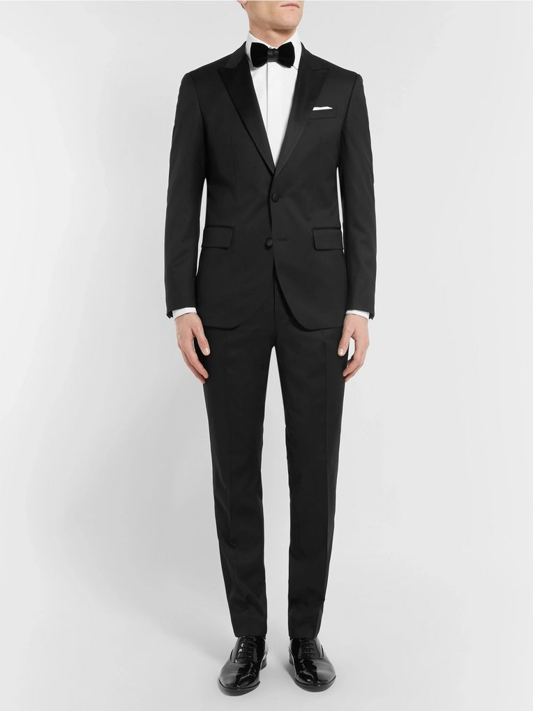 Hugo Boss Black Gilan Slim-Fit Super 120s Virgin Wool Tuxedo Trousers