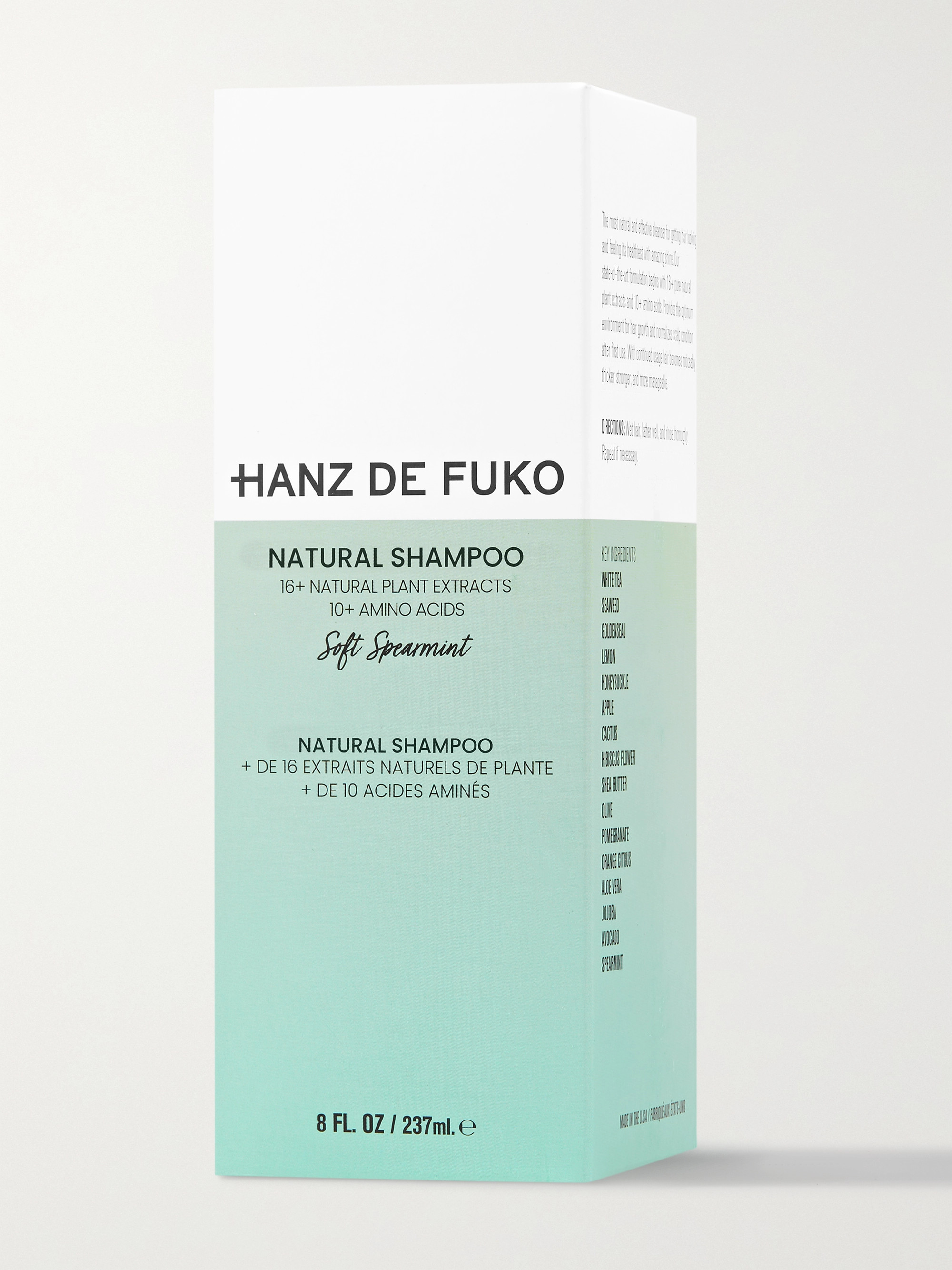 Hanz De Fuko Natural Shampoo, 237ml