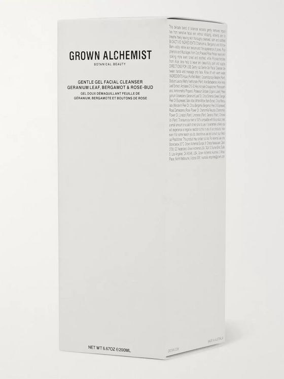 GROWN ALCHEMIST Gentle Gel Facial Cleanser - Geranium Leaf, Bergamot & Rose-Bud, 200ml