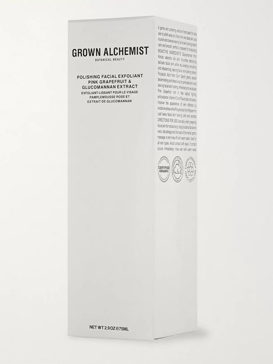 GROWN ALCHEMIST Pink Grapefruit & Glucomannan Extract Polishing Facial Exfoliant, 75ml