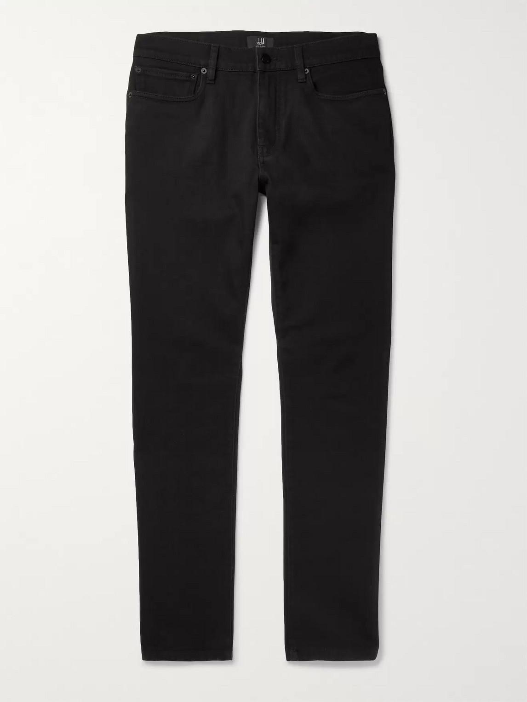 Dunhill Slim-fit Stretch-denim Jeans In Black
