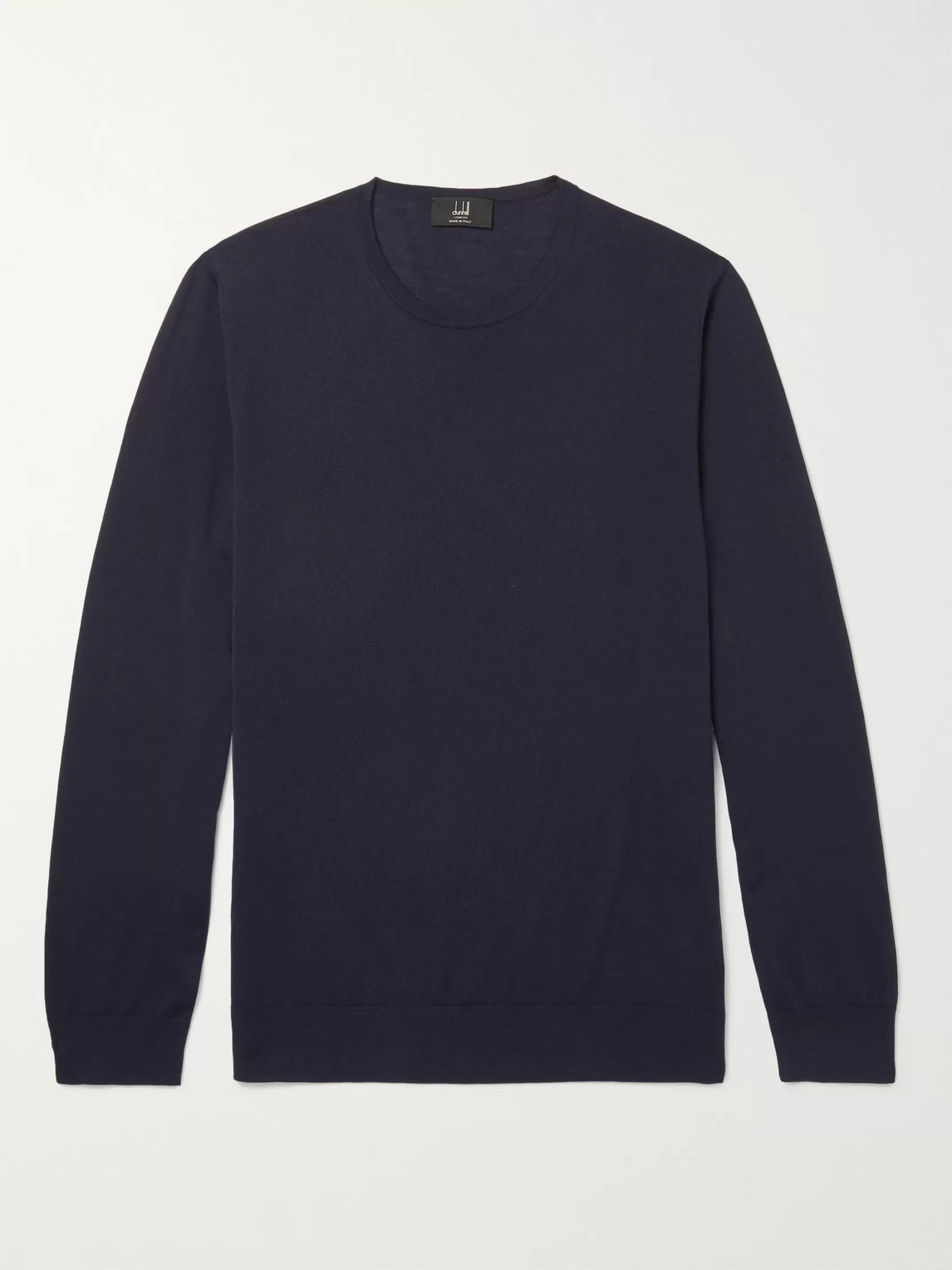 Dunhill Merino Wool Sweater In Blue