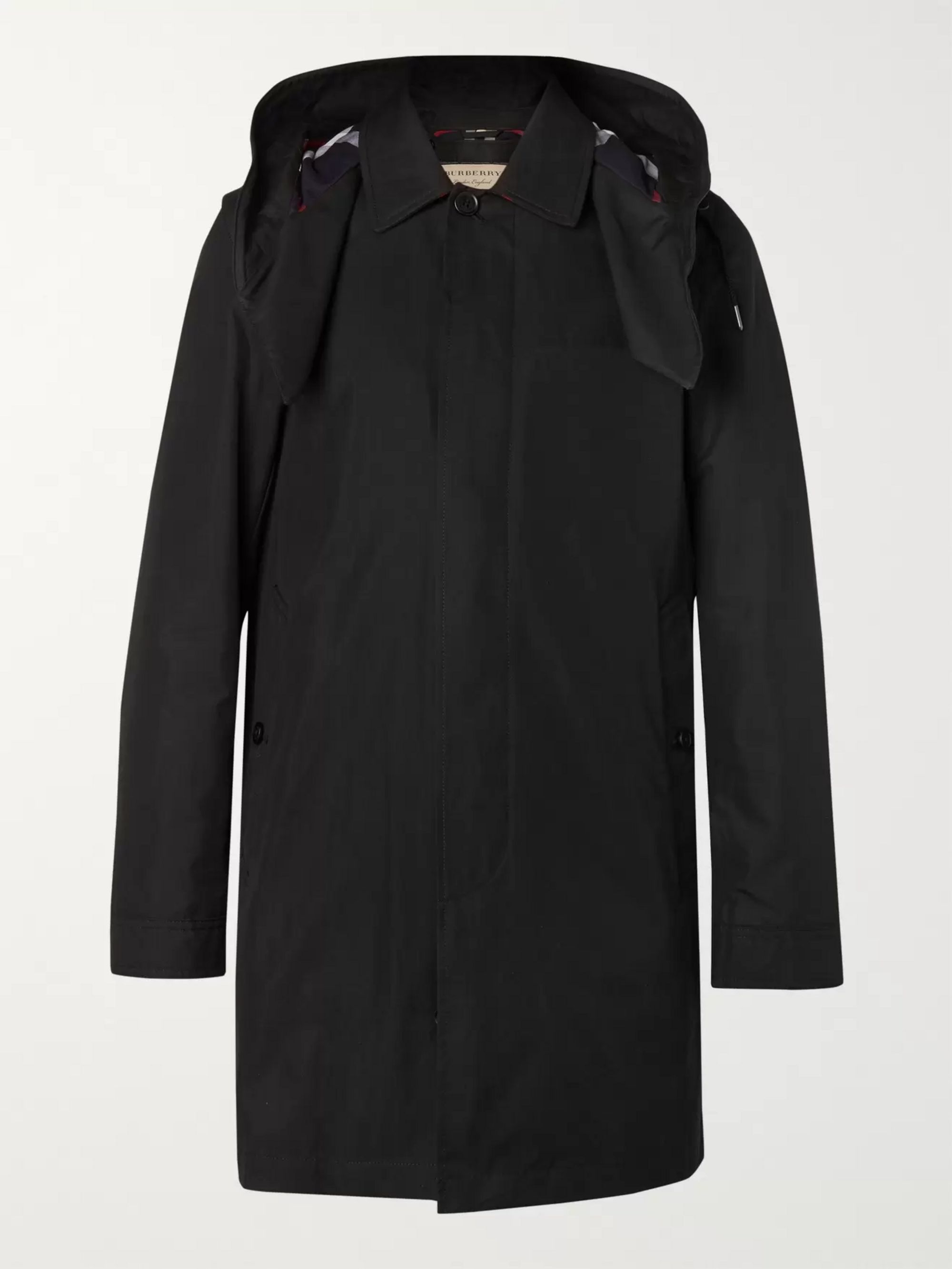 Burberry Cotton-Blend Gabardine Hooded Coat with Detachable Gilet