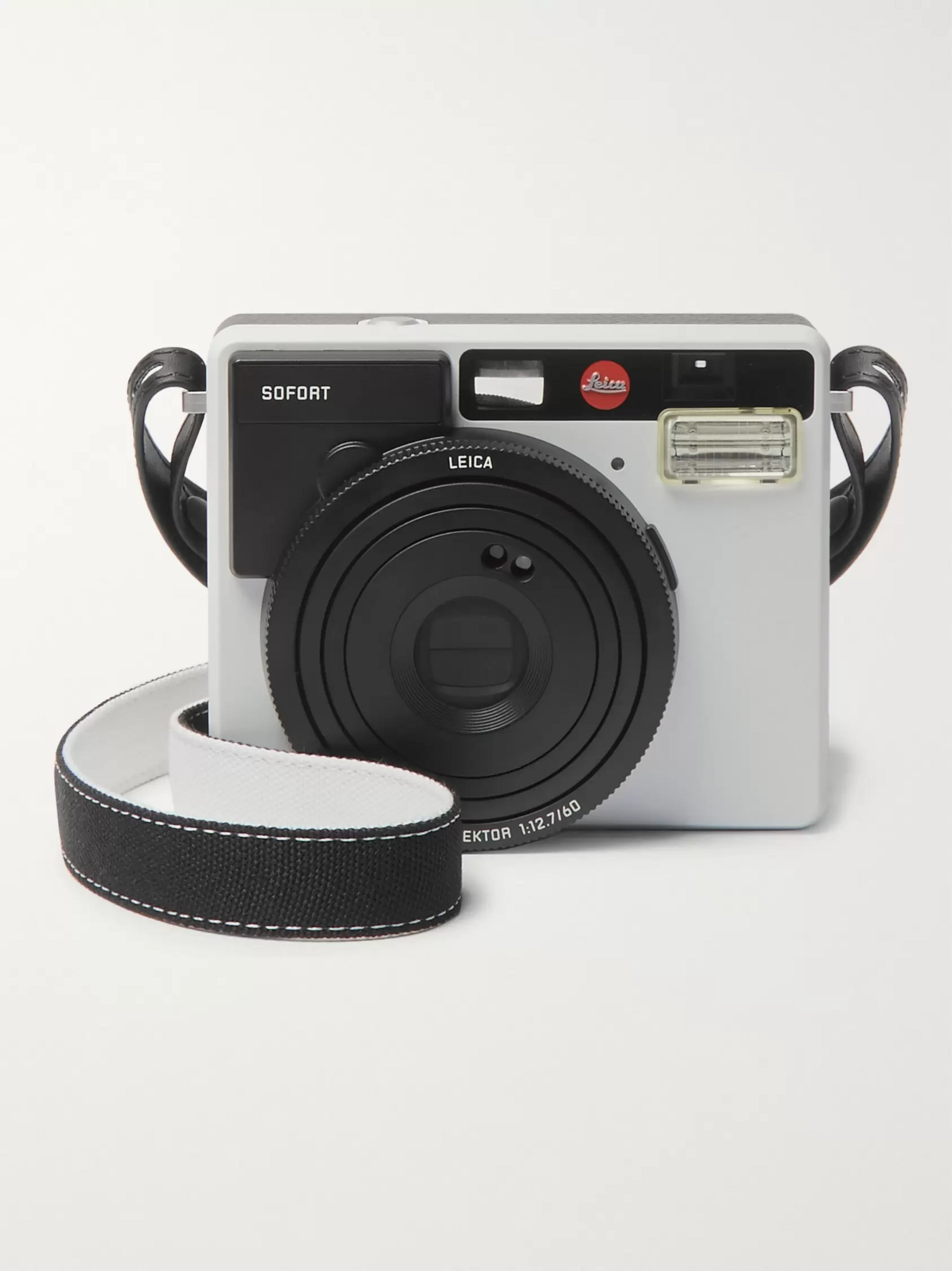 Leica Sofort Leather-Trimmed Canvas Camera Strap
