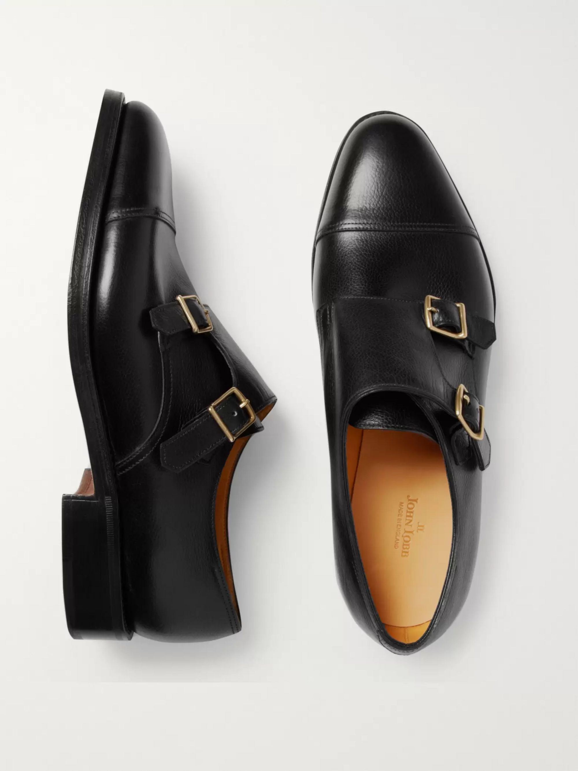John Lobb William Leather Monk-Strap Shoes