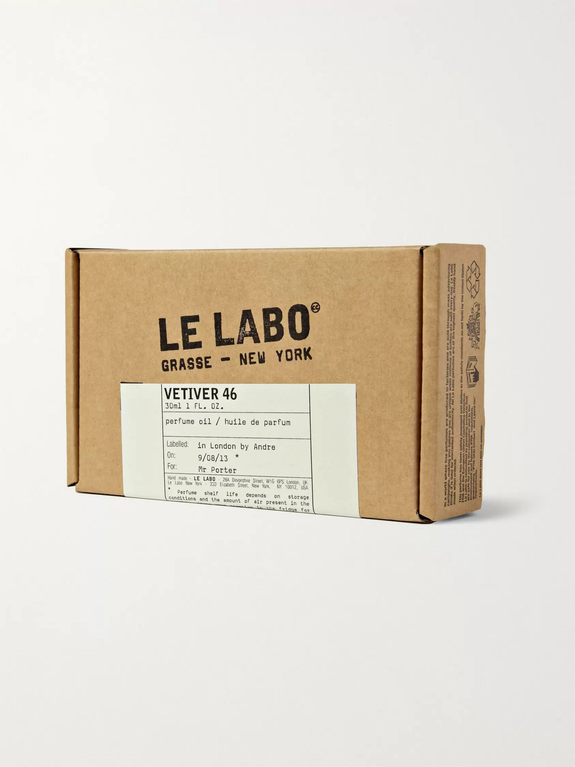 Le Labo Vetiver 46 Perfume Oil - Haitian Vetiver & Pepper, 30ml