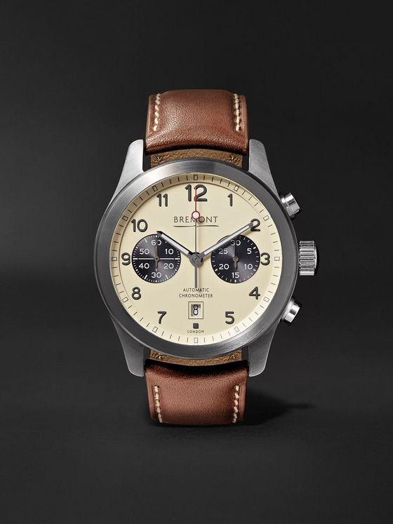 BREMONT ALT1-C/CR Automatic Chronograph 43mm Stainless Steel and Leather Watch, Ref. No. ALT1-C/CR