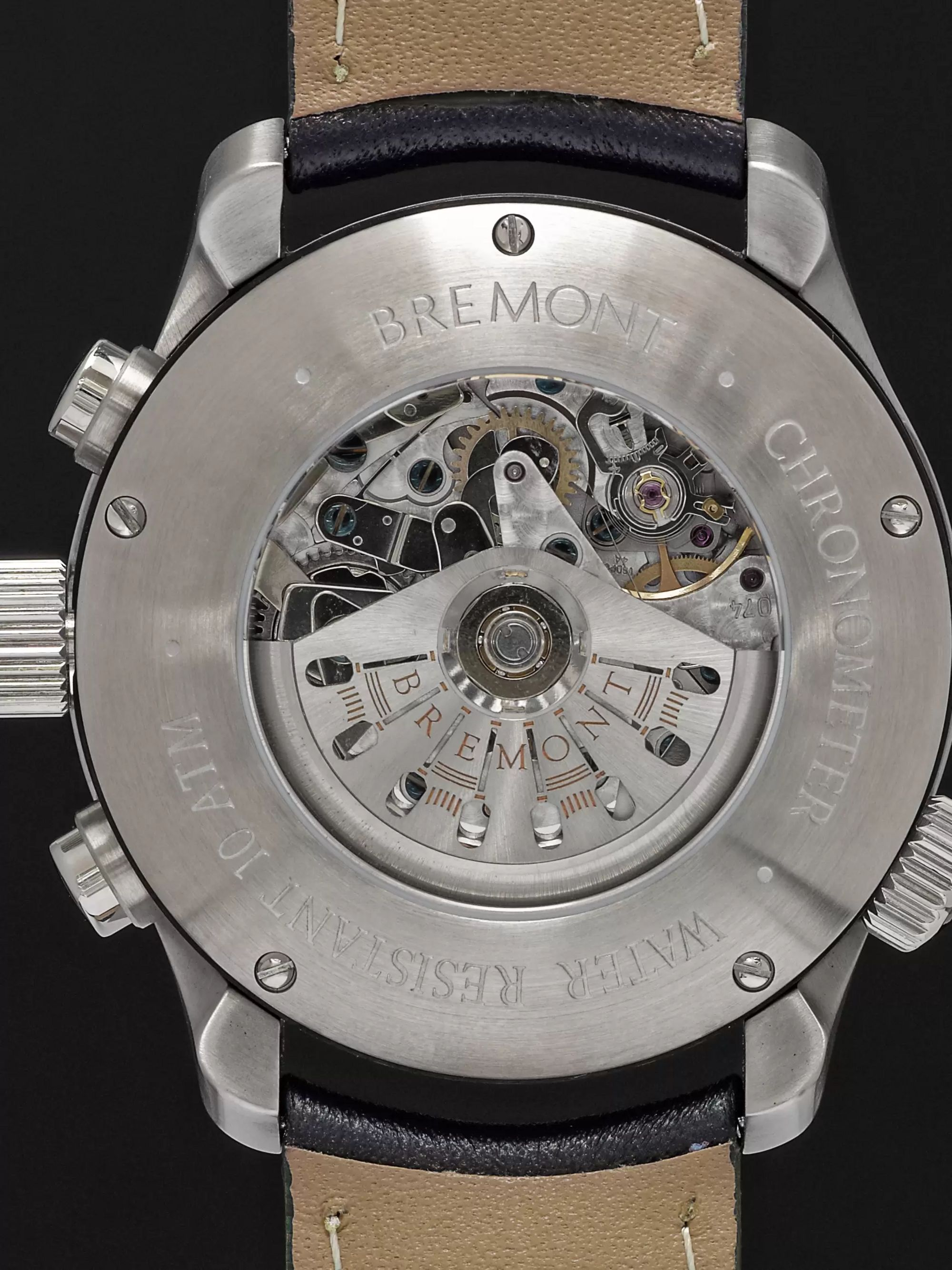 Bremont ALT1-B2(GMT) Automatic Chronograph 43mm Stainless Steel and Leather Watch