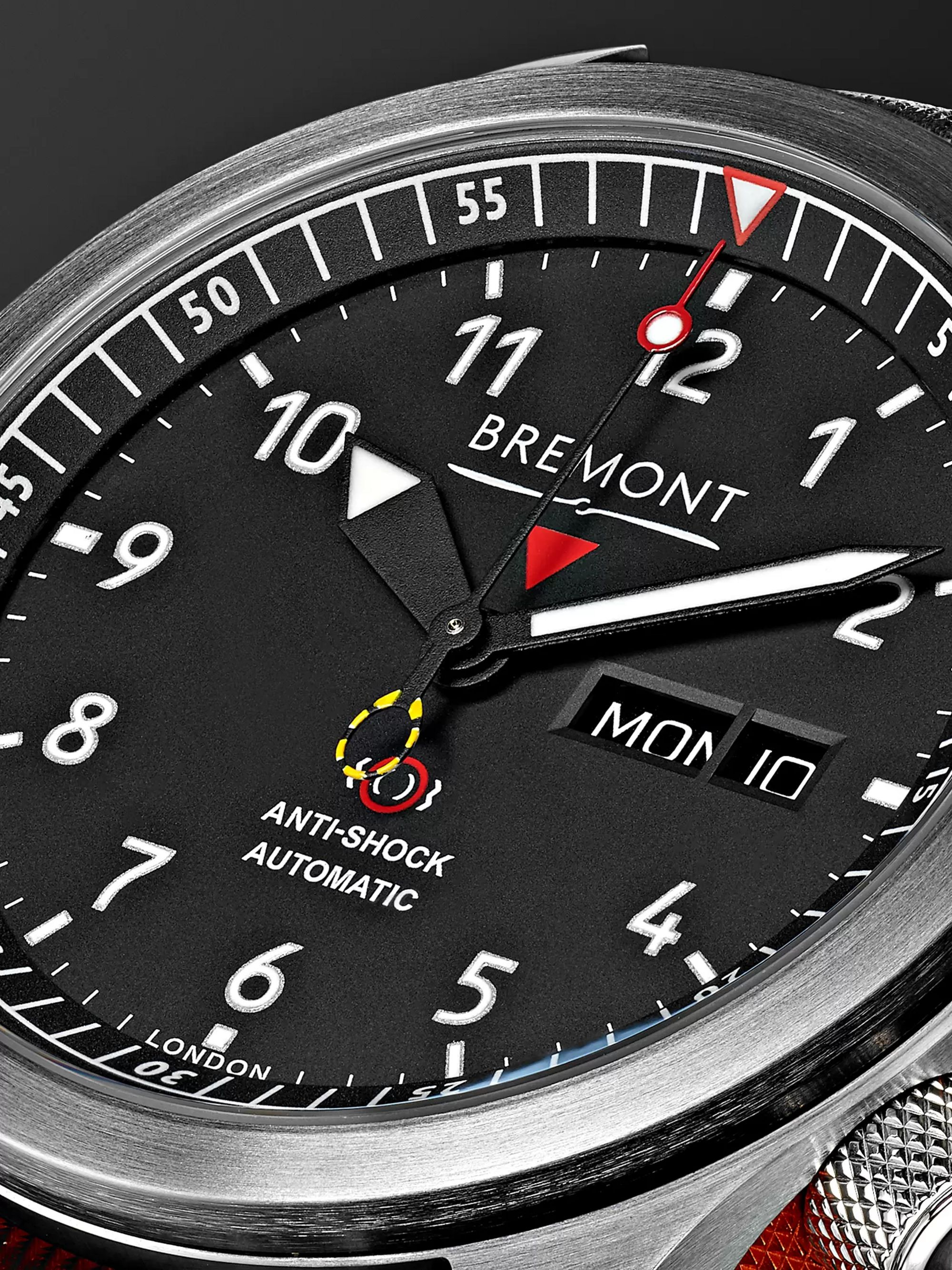 Bremont MBII/OR Automatic 45mm Stainless Steel and Leather Watch