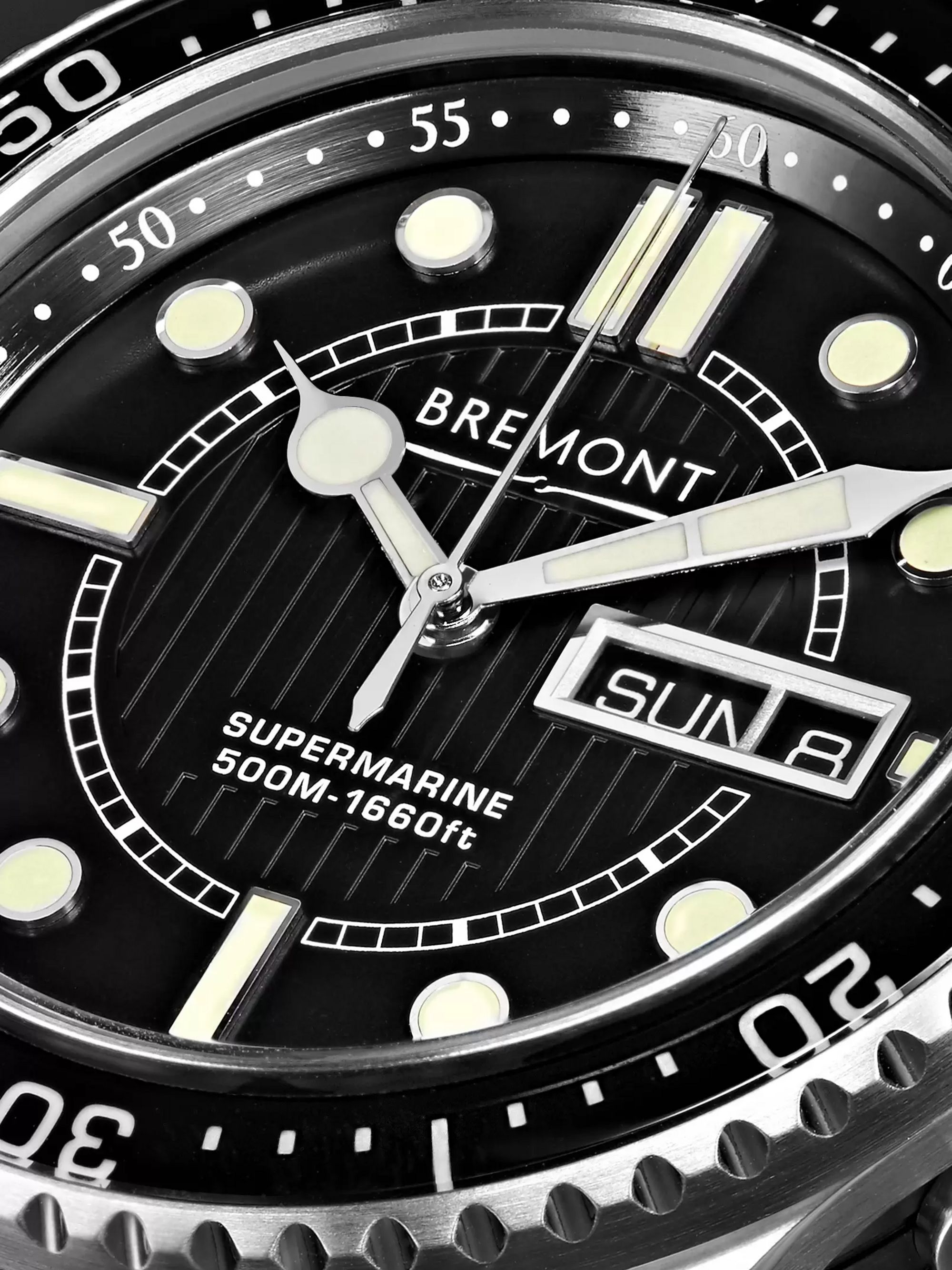 Bremont S500 Supermarine Automatic 43mm Stainless Steel and Rubber Watch, Ref. No. S500/BK