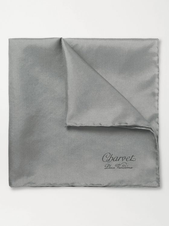 Charvet Silk Pocket Square