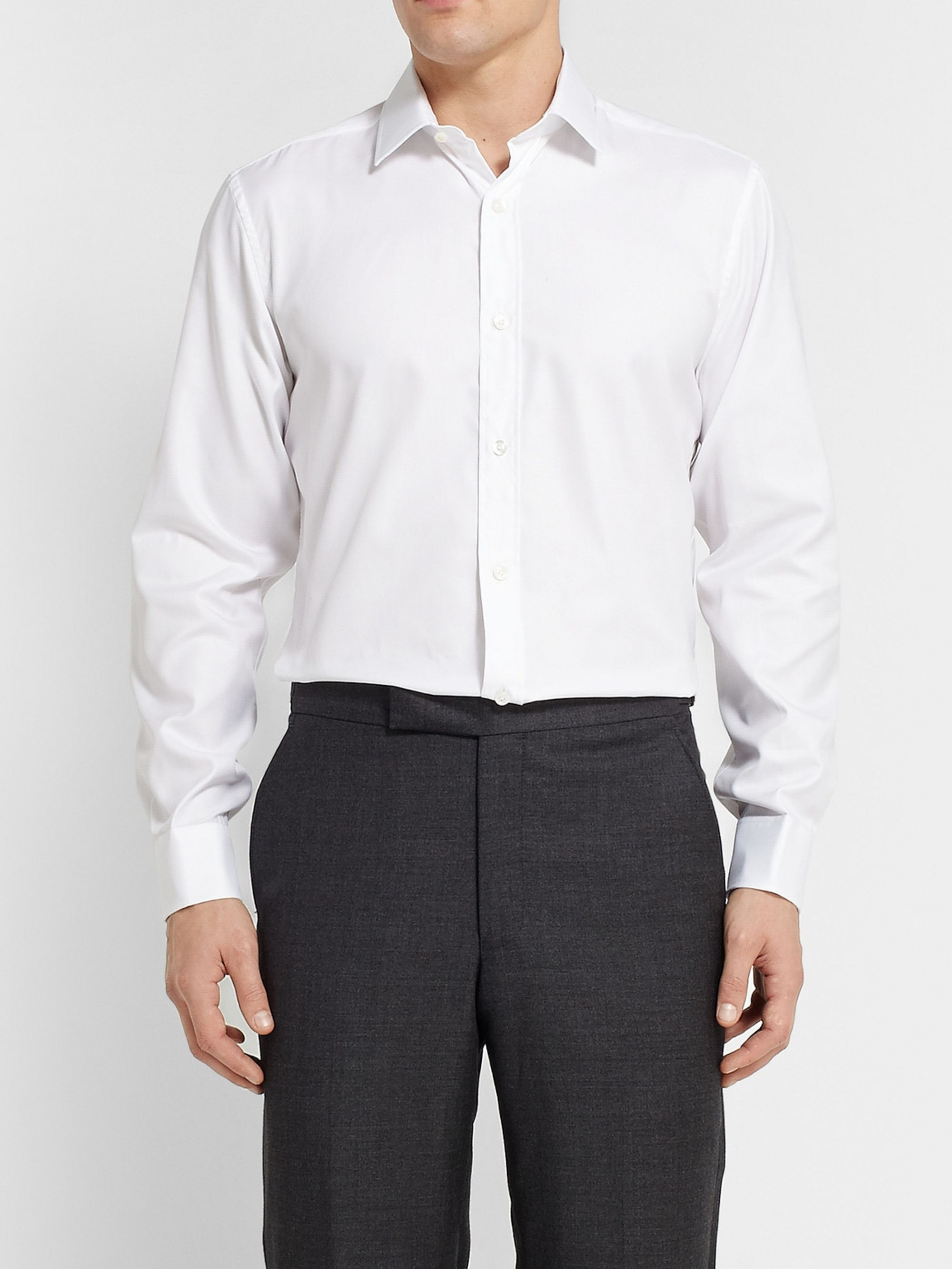 CHARVET White Royal Slim-Fit Cotton Oxford Shirt