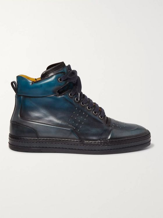 BERLUTI Leather High-Top Sneakers