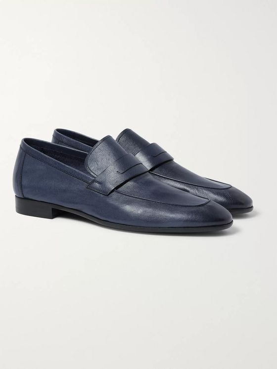 Berluti Lorenzo Polished Full-Grain Leather Loafers