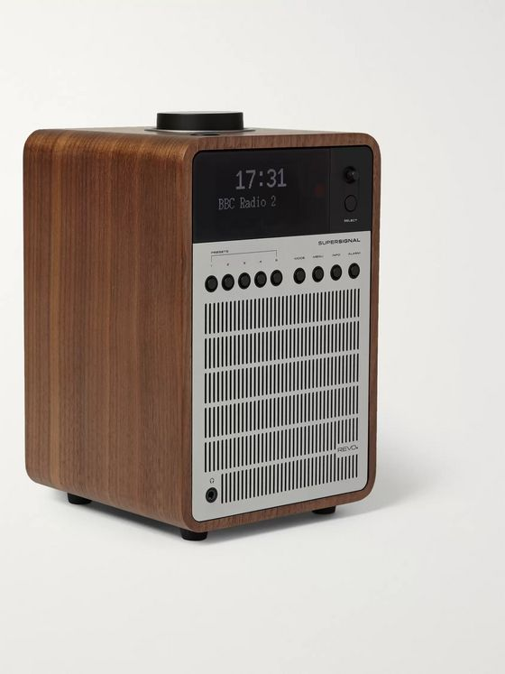 Revo SuperSignal Walnut and Aluminium Digital Radio