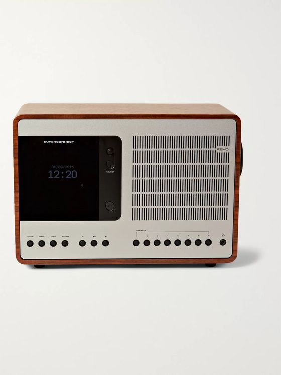 Revo SuperConnect Walnut and Aluminium Radio